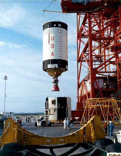 A Saturn V third stage (S-IVB)